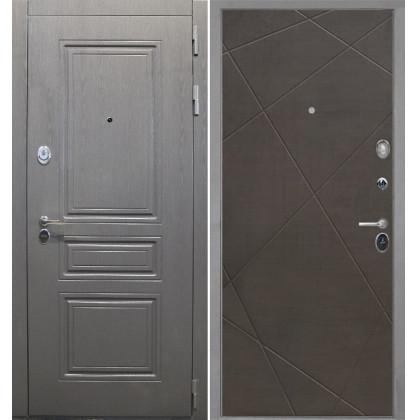 Дверь Интекрон Брайтон Лучи-М (Венге распил кофе)