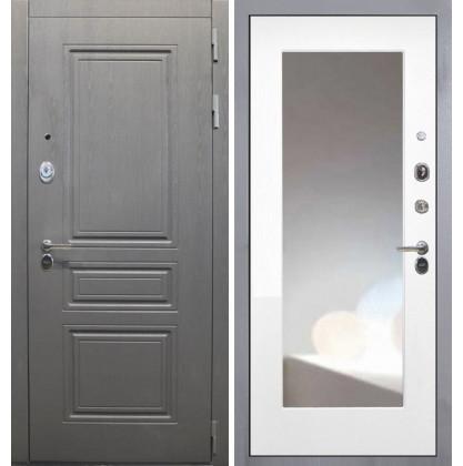 Дверь Интекрон Брайтон ФЛЗ-М с зеркалом (Белая матовая)