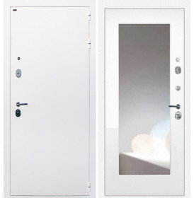 Дверь Интекрон Колизей White (белая) ФЛЗ-М с зеркалом (Белая матовая)