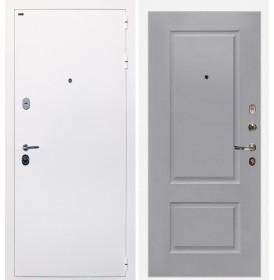 Дверь Интекрон Колизей White (белая) Альба эмаль RAL-7037 (Пыльно серый)