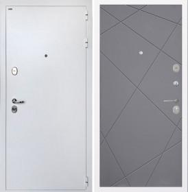Дверь Интекрон Колизей White (белая) Лучи-М (Софт графит)