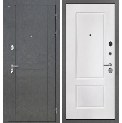 Дверь Интекрон Сенатор Лофт КВ-2 (Белая матовая)
