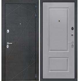 Дверь Интекрон Сенатор Лучи Альба эмаль RAL-7037 (Пыльно серый)