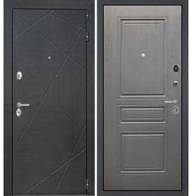 Дверь Интекрон Сенатор Лучи ФЛ-243-м (Графит вуд дуб)