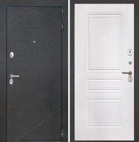 Дверь Интекрон Сенатор Лучи ФЛ-243-м (Белая матовая)
