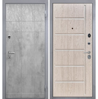 Дверь Интекрон Спарта Грей ФЛ-102 (Белая сосна)