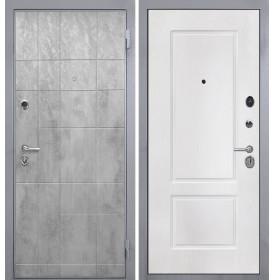 Дверь Интекрон Спарта Грей КВ-2 (Белая матовая)