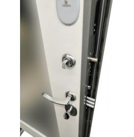 Дверь Интекрон Спарта Грей с зеркалом (Белая матовая)