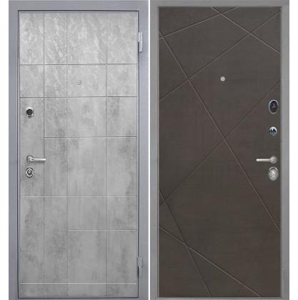 Дверь Интекрон Спарта Грей Лучи-М (Венге распил кофе)