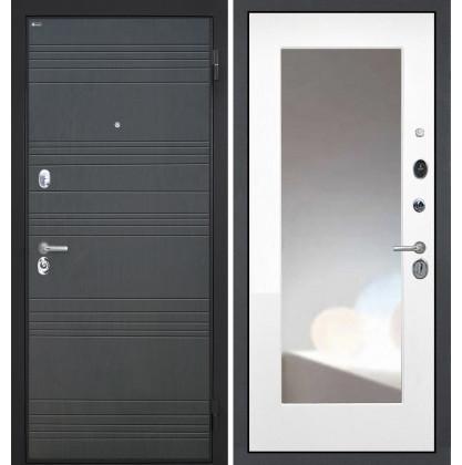 Дверь Интекрон Спарта ФЛ-316 ФЛЗ-М с зеркалом (Белая матовая)
