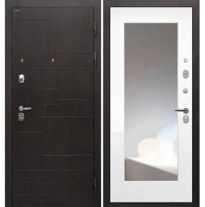 Дверь Интекрон Веста ФЛЗ-М с зеркалом (Белый матовый)