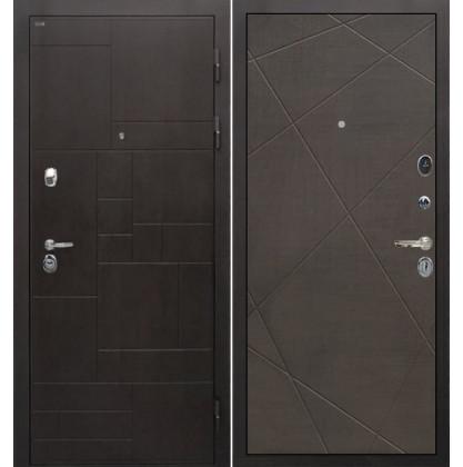 Дверь Интекрон Веста Лучи-М (Венге распил кофе)