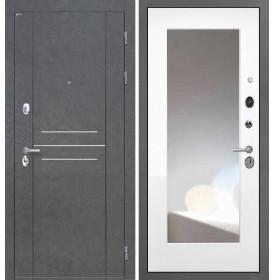 Дверь Интекрон Сенатор Лофт ФЛЗ-М с зеркалом (Белая матовая)