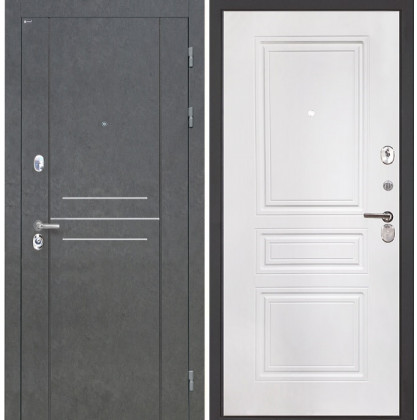 Дверь Интекрон Сенатор Лофт ФЛ-243 (Белая матовая)
