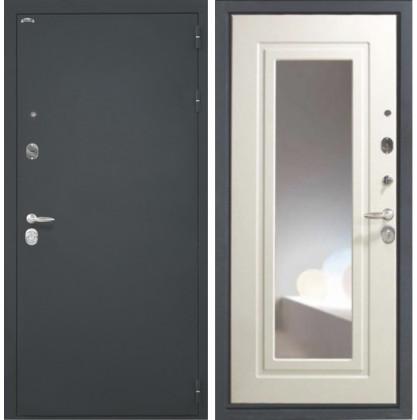 Дверь Интекрон Эллада с зеркалом (Белый ясень)