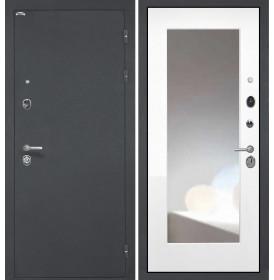 Дверь Интекрон Колизей ФЛЗ-М с зеркалом (Белая матовая)