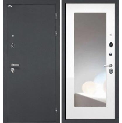 Дверь Интекрон Греция ФЛЗ-М с зеркалом (Белая матовая)