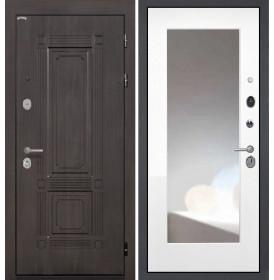 Дверь Интекрон Италия ФЛЗ-М с зеркалом (Белая матовая)