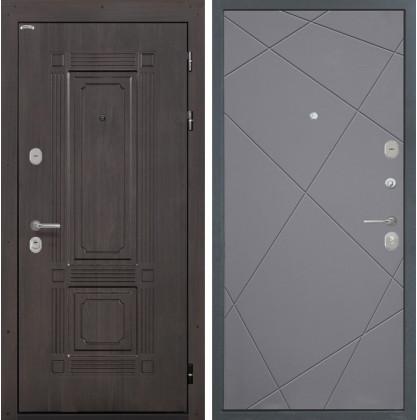 Дверь Интекрон Италия Лучи-М (Софт графит)