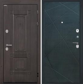 Дверь Интекрон Италия Лучи-М (Венге распил кофе)