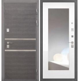 Дверь Интекрон Неаполь ФЛЗ-М с зеркалом (Белая матовая)