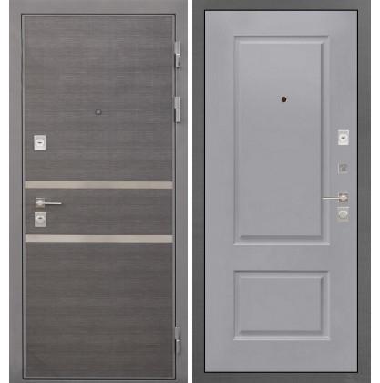 Дверь Интекрон Неаполь Альба эмаль RAL-7037 (Пыльно серый)
