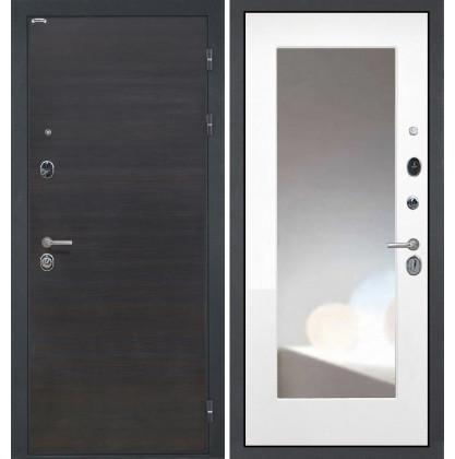 Дверь Интекрон Сицилия ФЛЗ-М с зеркалом (Белая матовая)