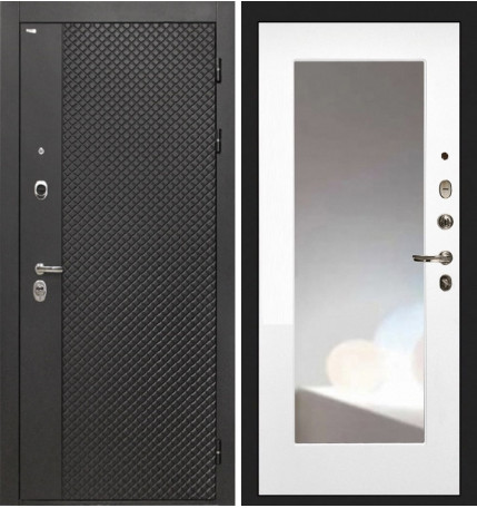 Дверь Интекрон Олимпия Black ФЛЗ-М (Белая матовая)