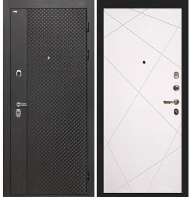 Дверь Интекрон Олимпия Black Лучи-М (Софт милк)