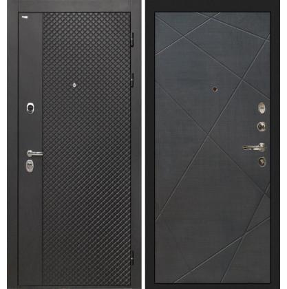 Дверь Интекрон Олимпия Black Лучи-М (Венге распил кофе)