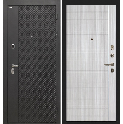 Дверь Интекрон Олимпия Black В-07 (Сандал белый)