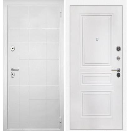 Дверь Интекрон Брайтон ФЛ-243 (Роял вуд белый / Белая матовая)