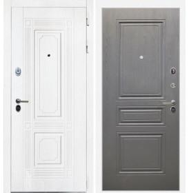 Дверь Интекрон Брайтон ФЛ-243 (Роял вуд белый / Дуб вуд графит)