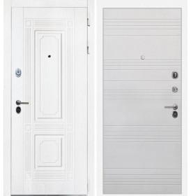 Дверь Интекрон Брайтон ФЛ-316 (Роял вуд белый / Белый ясень)