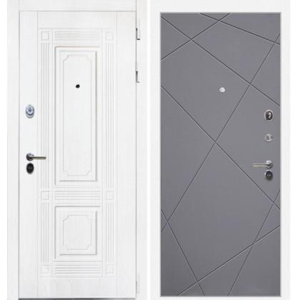 Дверь Интекрон Брайтон Лучи-М (Роял вуд белый / Графит софт)
