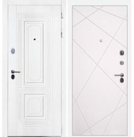 Дверь Интекрон Брайтон Лучи-М (Роял вуд белый / Софт милк)