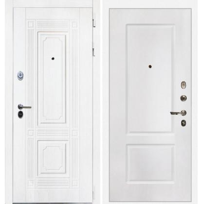 Дверь Интекрон Брайтон КВ-2 (Роял вуд белый / Белая матовая)