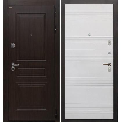 Дверь Интекрон Брайтон ФЛ-316 (Тиковое дерево / Белый ясень)