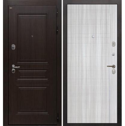 Дверь Интекрон Брайтон В-07 (Тиковое дерево / Сандал белый)