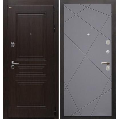 Дверь Интекрон Брайтон Лучи-М (Тиковое дерево / Софт графит)