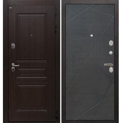 Дверь Интекрон Брайтон Лучи-М (Тиковое дерево / Венге распил кофе)