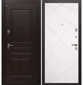 Дверь Интекрон Брайтон Лучи-М (Тиковое дерево / Софт милк)