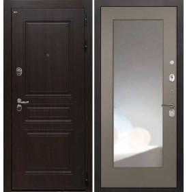 Дверь Интекрон Брайтон ФЛЗ-М с зеркалом (Тиковое дерево / Силк муссон)
