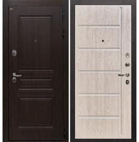 Дверь Интекрон Брайтон ФЛ-102 (Тиковое дерево / Белая сосна)