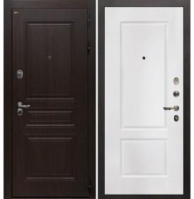 Дверь Интекрон Брайтон КВ-2 (Тиковое дерево / Белая матовая)