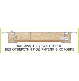 Дверь Интекрон Брайтон ФЛЗ-М с зеркалом (Тиковое дерево / Белая матовая)