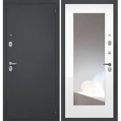 Дверь Интекрон Гектор ФЛЗ-М с зеркалом (Белая матовая)