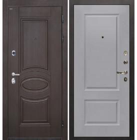 Дверь Интекрон Олимпия Венге Альба эмаль RAL-7037 (Пыльно серый)