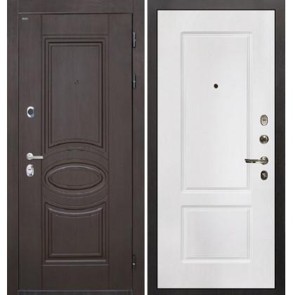 Дверь Интекрон Олимпия Венге КВ-2 (Белая матовая)