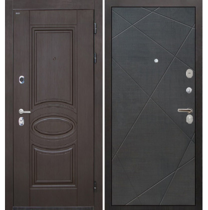 Дверь Интекрон Олимпия Венге Лучи-М (Венге распил кофе)